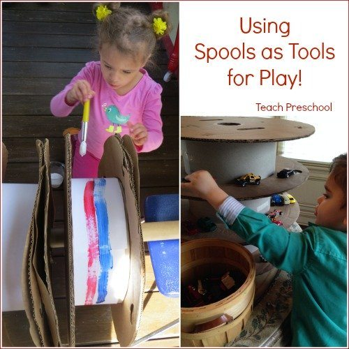 Using spools as tools for play