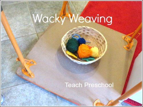 Upside down, wacky weaving