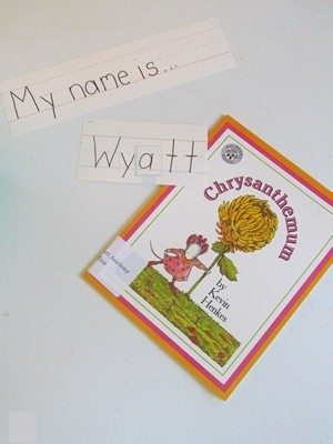 Reading Chrysanthemum and exploring our own perfect names
