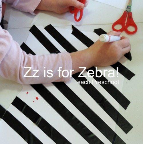 Zz is for a zany zebra