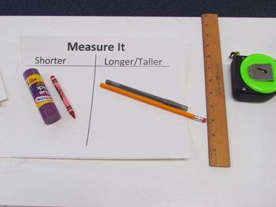 Exploring measuring tools in preschool
