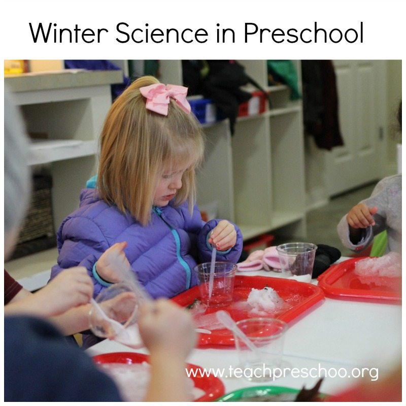 Winter science in preschool
