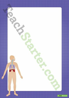 Human Body Respiratory System Border Word Template