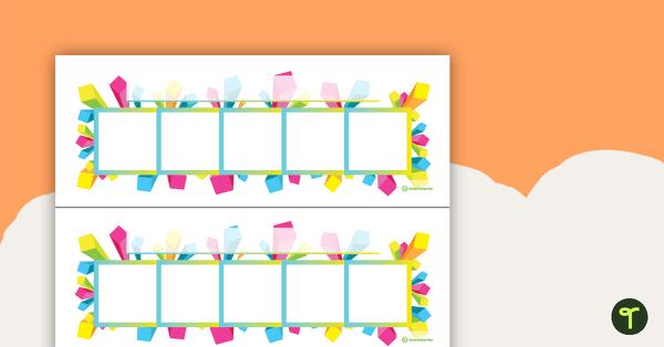 desk reward chart geometric