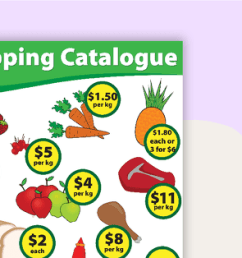 Shopping Catalogue Maths Worksheet [ 1200 x 1200 Pixel ]