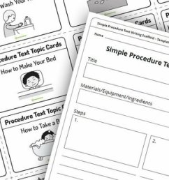 Early Years Procedure Writing Activities!   Teach Starter [ 900 x 1200 Pixel ]