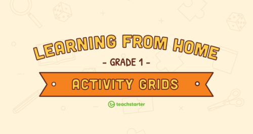 small resolution of Grade 1 – Week 1 Learning from Home Activity Grids Teaching Resource    Teach Starter