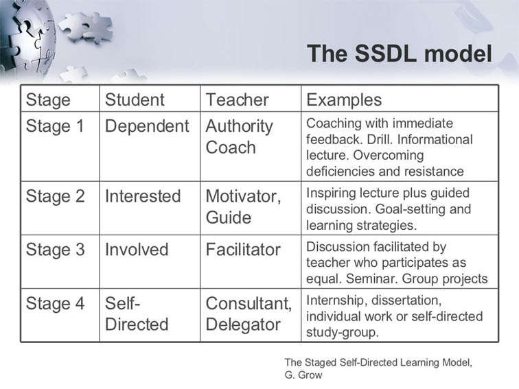 The Four Stages Of The Self Directed Learning Model