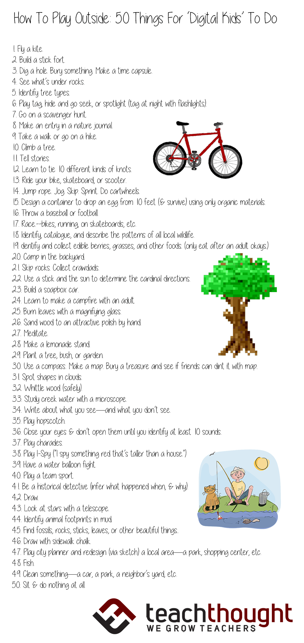 How To Play Outside 50 Things For Digital Kids To Do