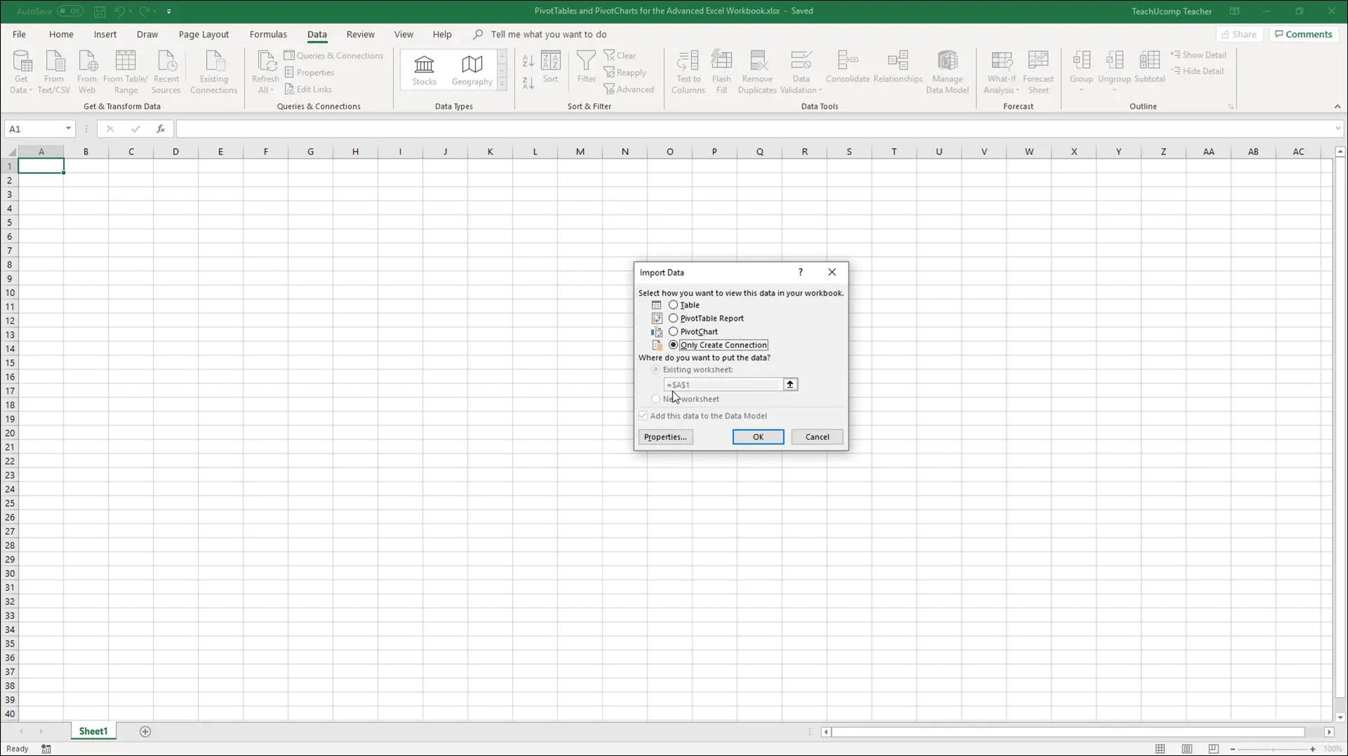 Add Excel Tables to a Data Model in Excel 2019