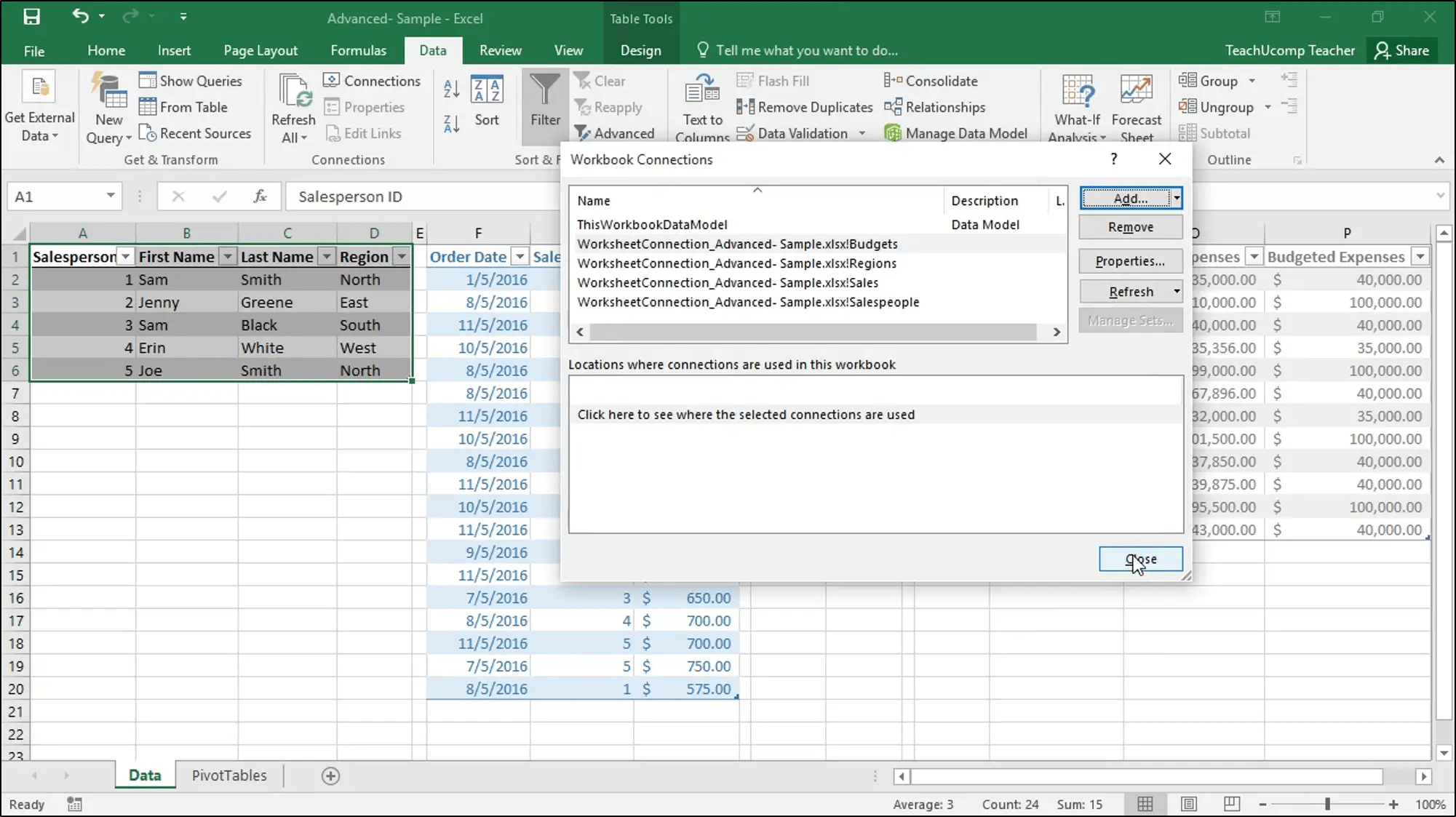 Add Excel Tables To A Data Model Instructions And Video