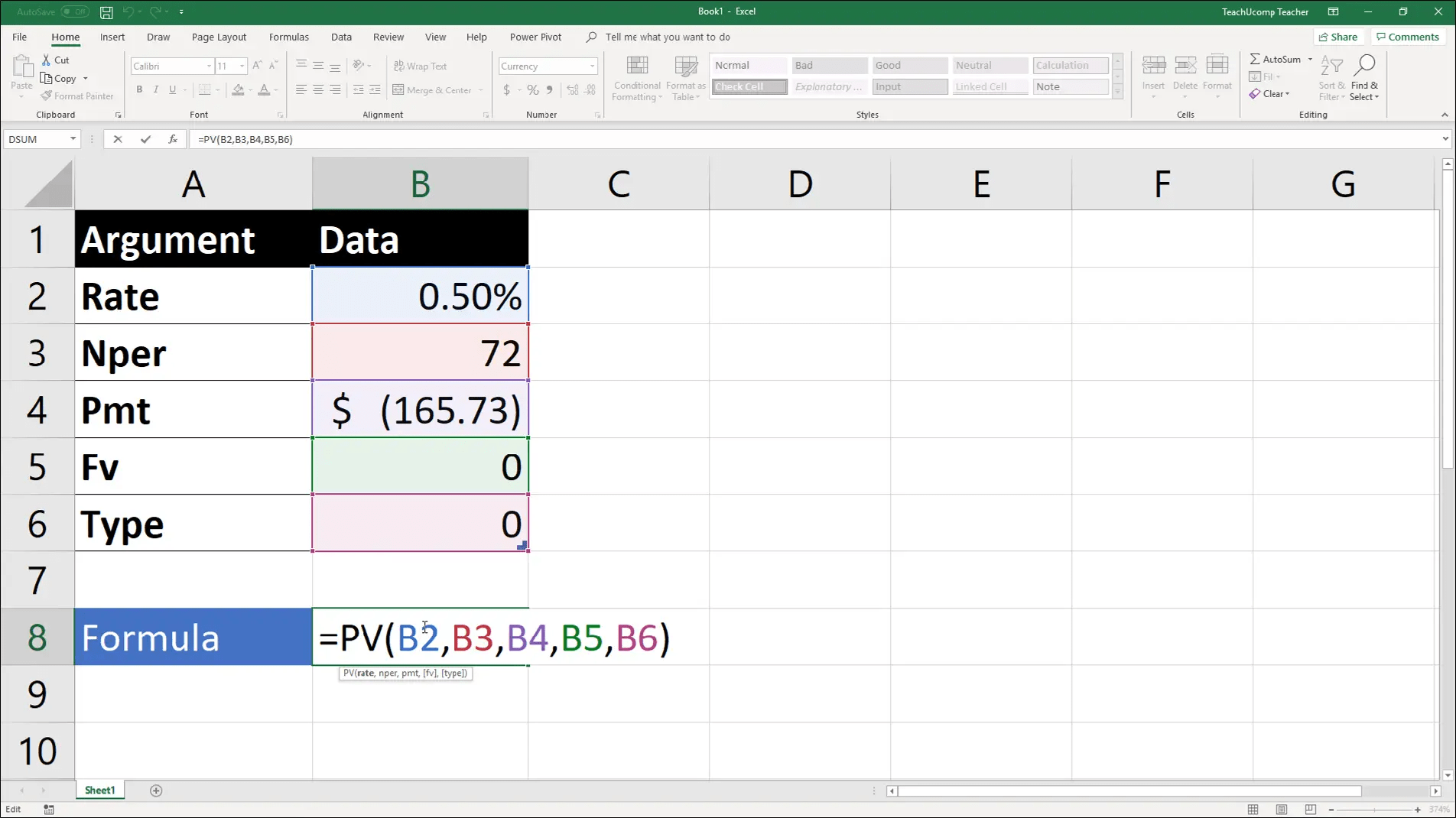 The Pv Function Excel For Lawyers Tutorial And Video Lesson