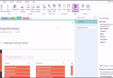Microsoft Onenote Templates