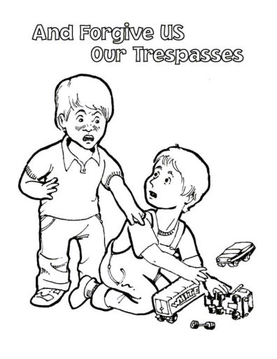 Free Lord's prayer Coloring Pages for kids-children and