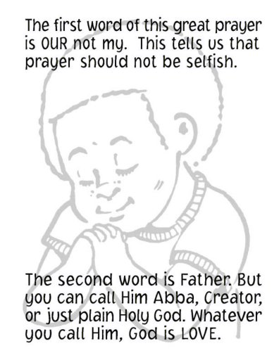 The Lord's prayer for kids-children and parents. Free