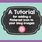 Step by Step: A tutorial for adding a hovering Pinterest icon to your blog images