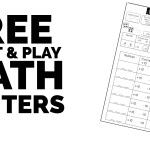 FREE Print & Play Math Centers