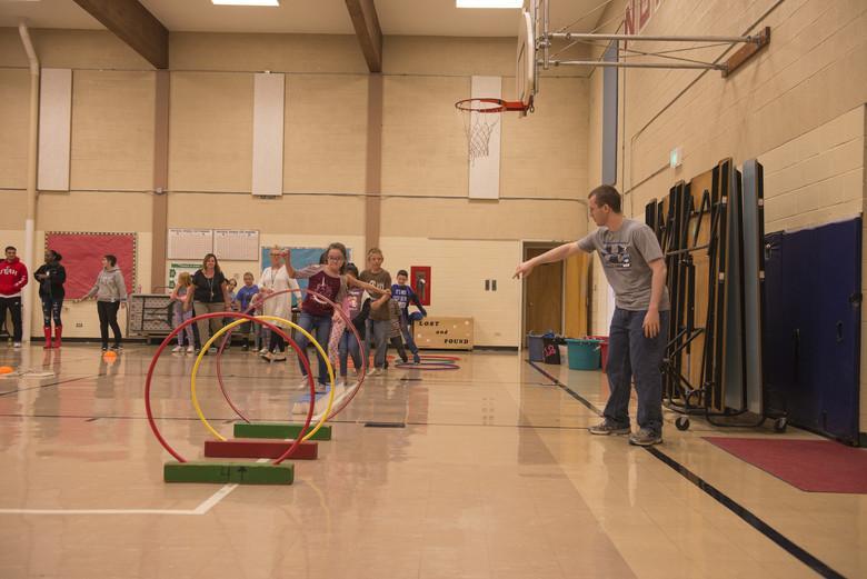 Kids Playing Hula Hoop