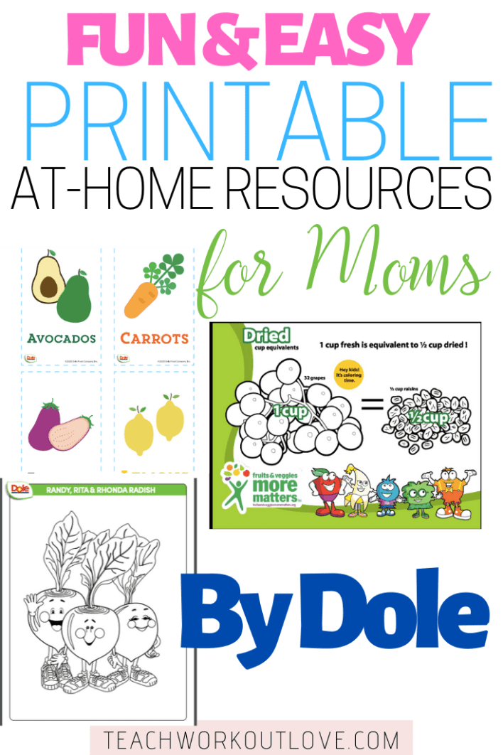 Dole is offering FREE at-home resources for you to access online to make this time at home easier. Here are our favorite ones from their list of resources!