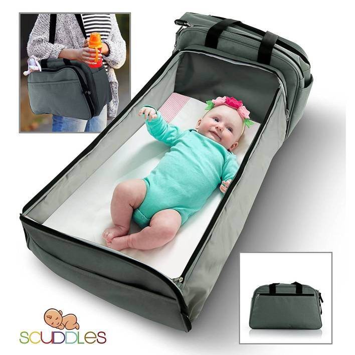 Portable Bassinet for Baby - Foldable Baby Bed - Travel Bassinet Functions As Diaper Bag And Changing Station