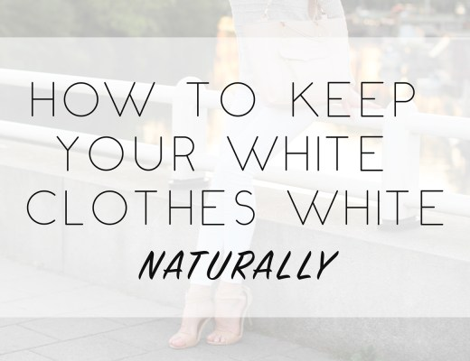 How to keep white clothes white naturally