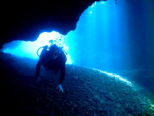 沖縄体験ダイビングの様子