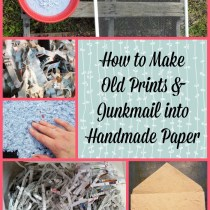 junkmail into handmade paper