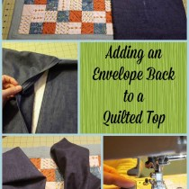 Adding an Envelope Back to a Quilted Top