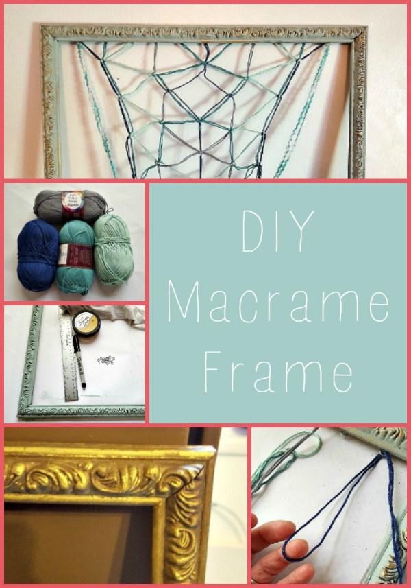 diy macrame frame