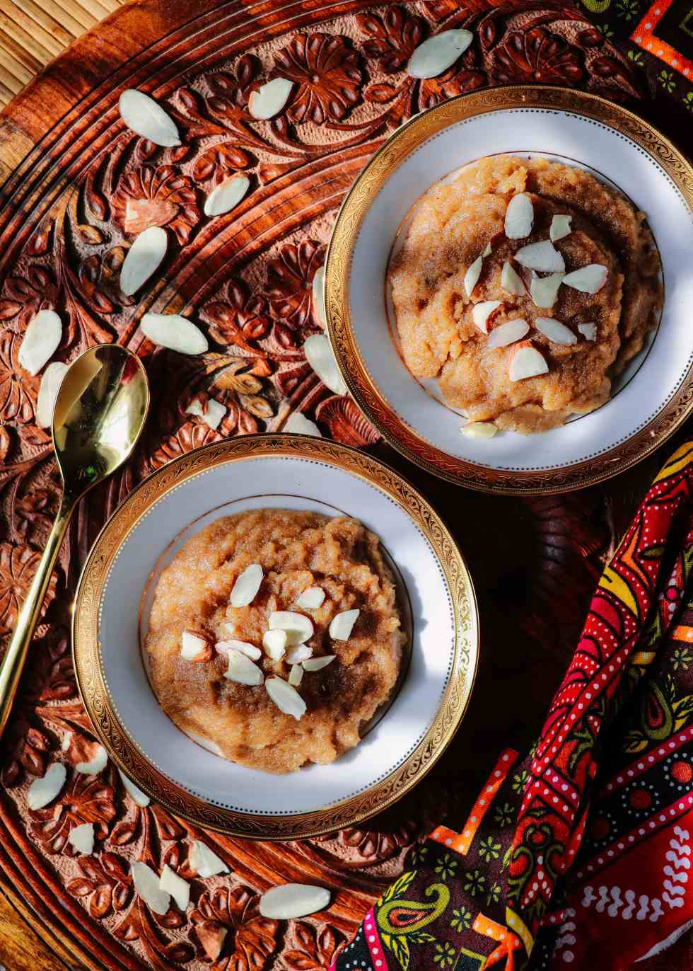 Halwa is a famous dessert that is prepared all over the world with various ingredients and in countless forms. This 20-minute recipe is prepared with semolina in the Pakistani and North Indian style.