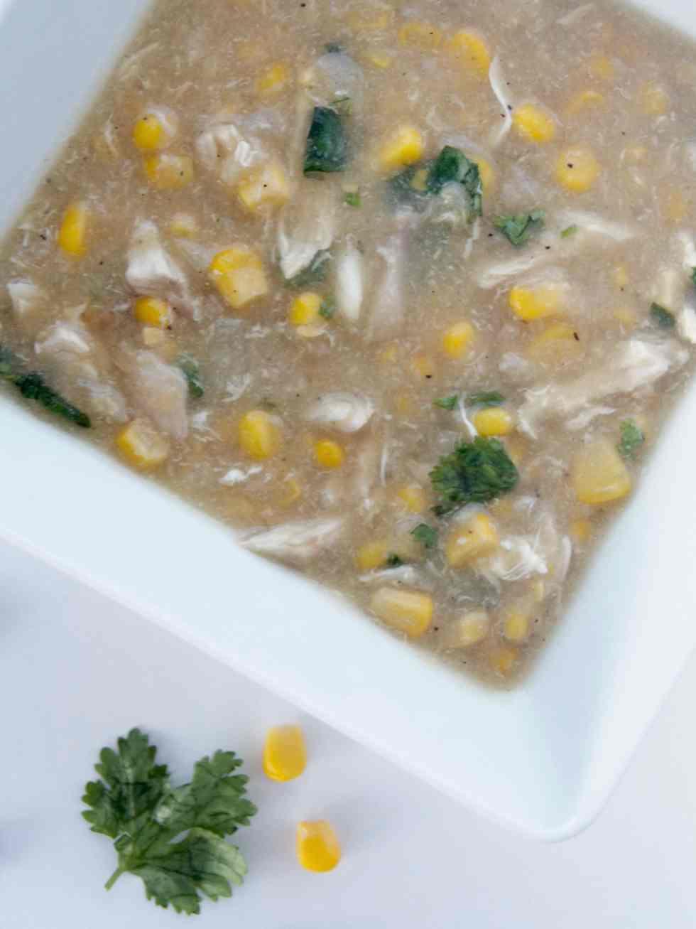 pakistani chicken and corn soup