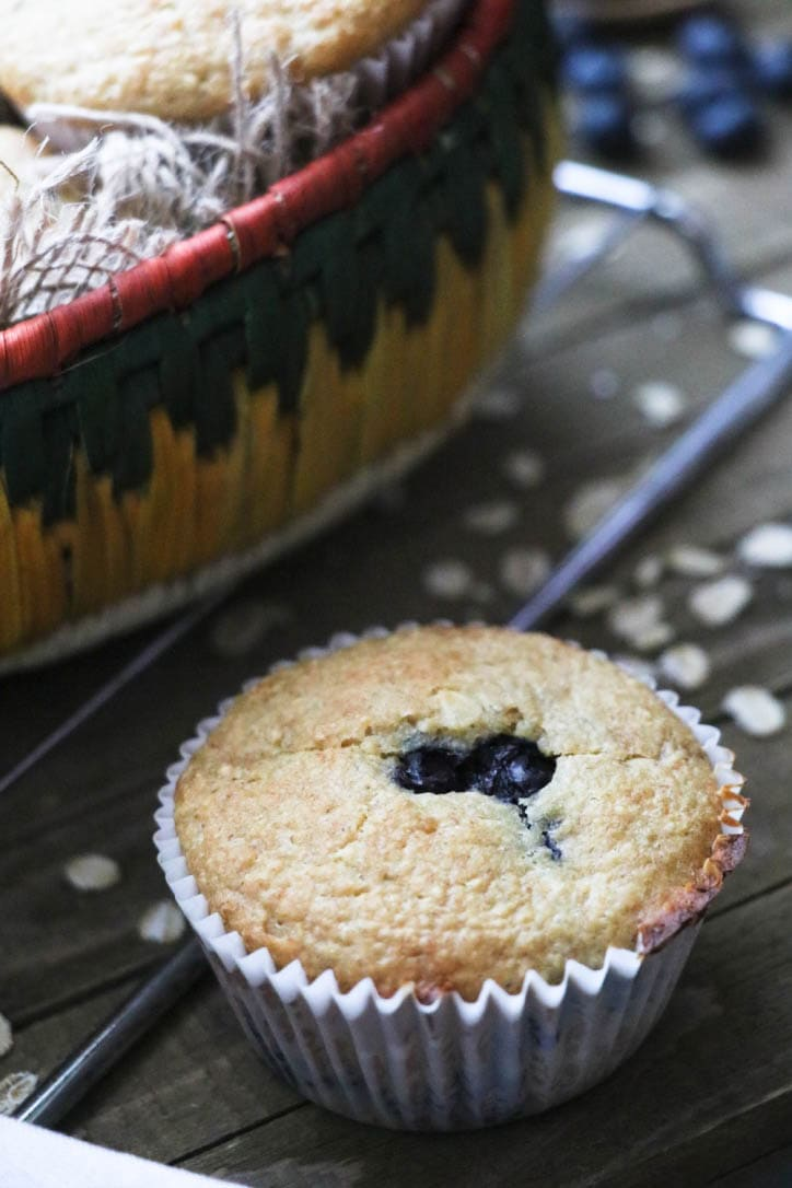 blueberry banana blender muffins