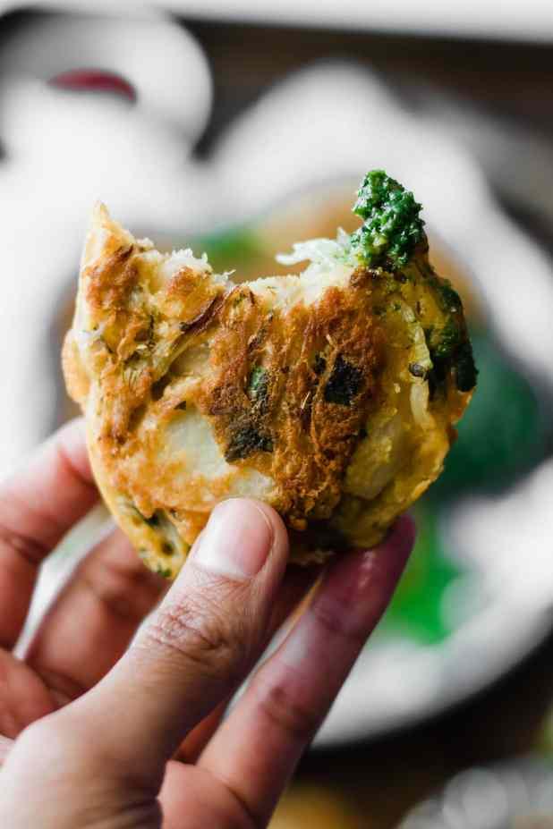 Pakora + Simple Green Chutney