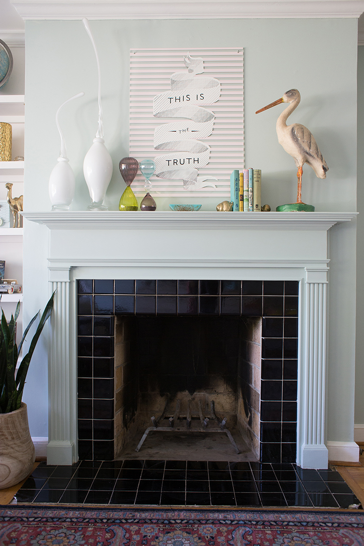 tile fireplace black tiles for
