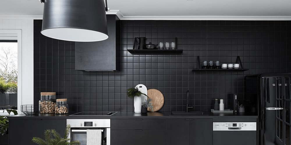 Scandinavian Kitchen Design Black And Red 1000x500 Wallpaper Teahub Io