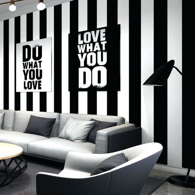 Black And White Striped Wall Black And White Striped Bedroom Wall Design Black And White 800x800 Wallpaper Teahub Io