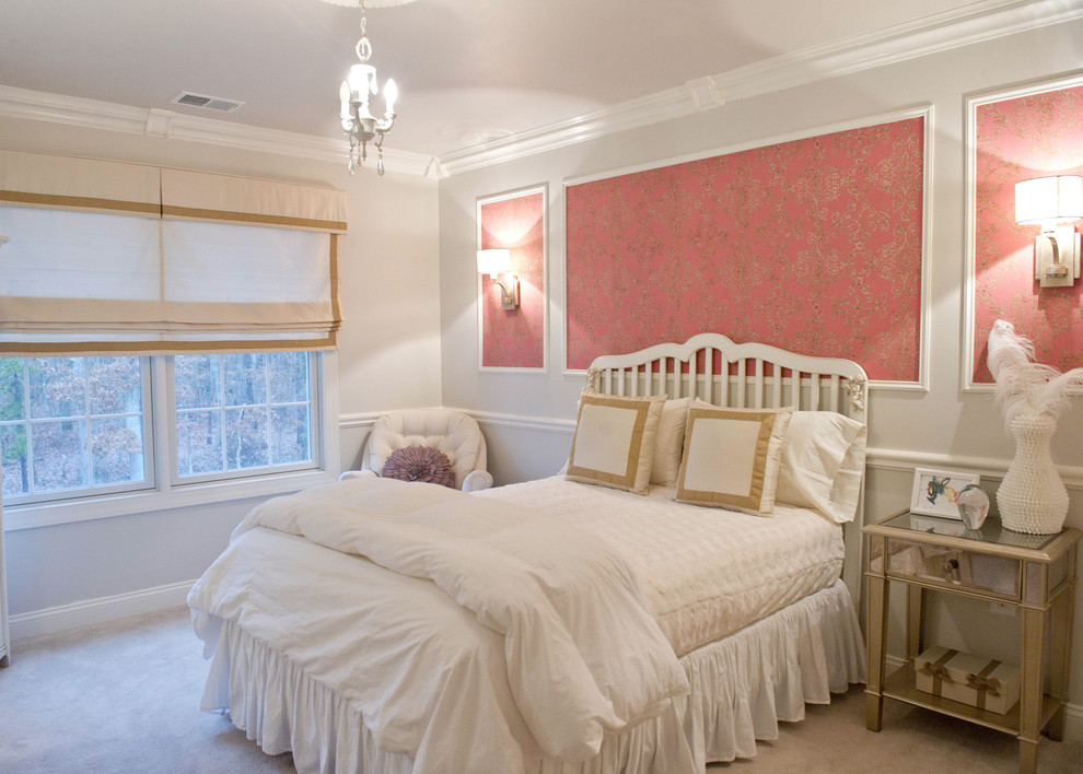 Molding On Walls Bedroom Traditional With Pink Wallpaper Bedroom Wall Moulding Ideas 990x708 Wallpaper Teahub Io
