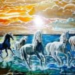 Vastu Running Seven Horse Painting 1280x720 Wallpaper Teahub Io