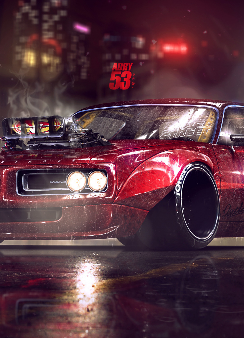 These simple tricks will help make your next wallpapering job go smoothly. Dodge Charger Muscle Car Artwork Wallpaper Mobile Muscle Car Wallpaper 4k 840x1160 Wallpaper Teahub Io