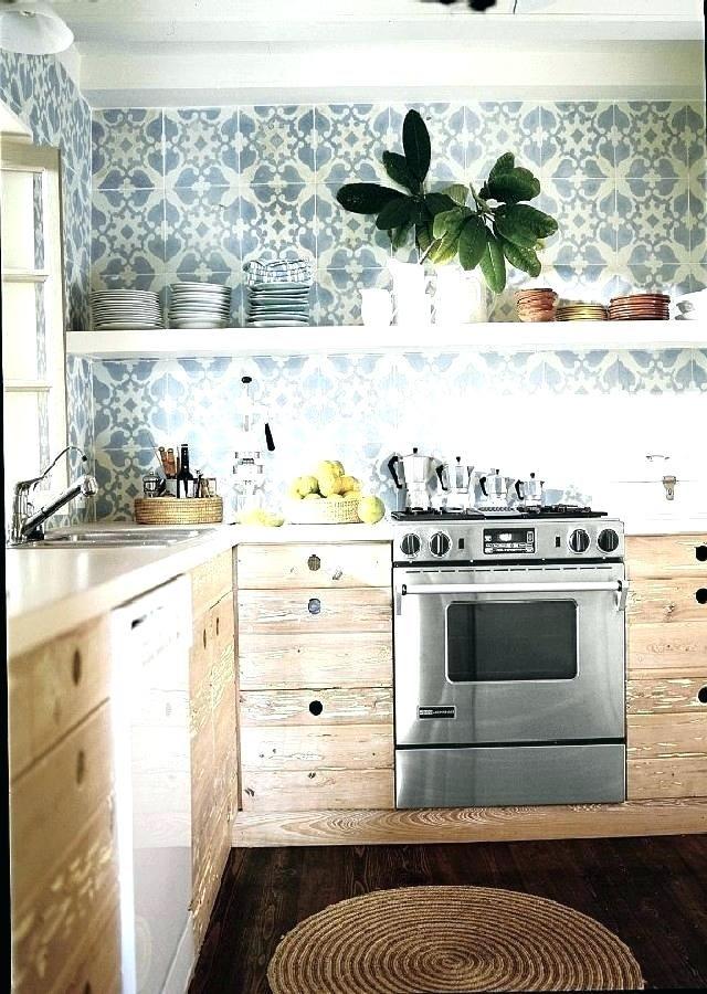 blue mexican tile kitchen backsplash