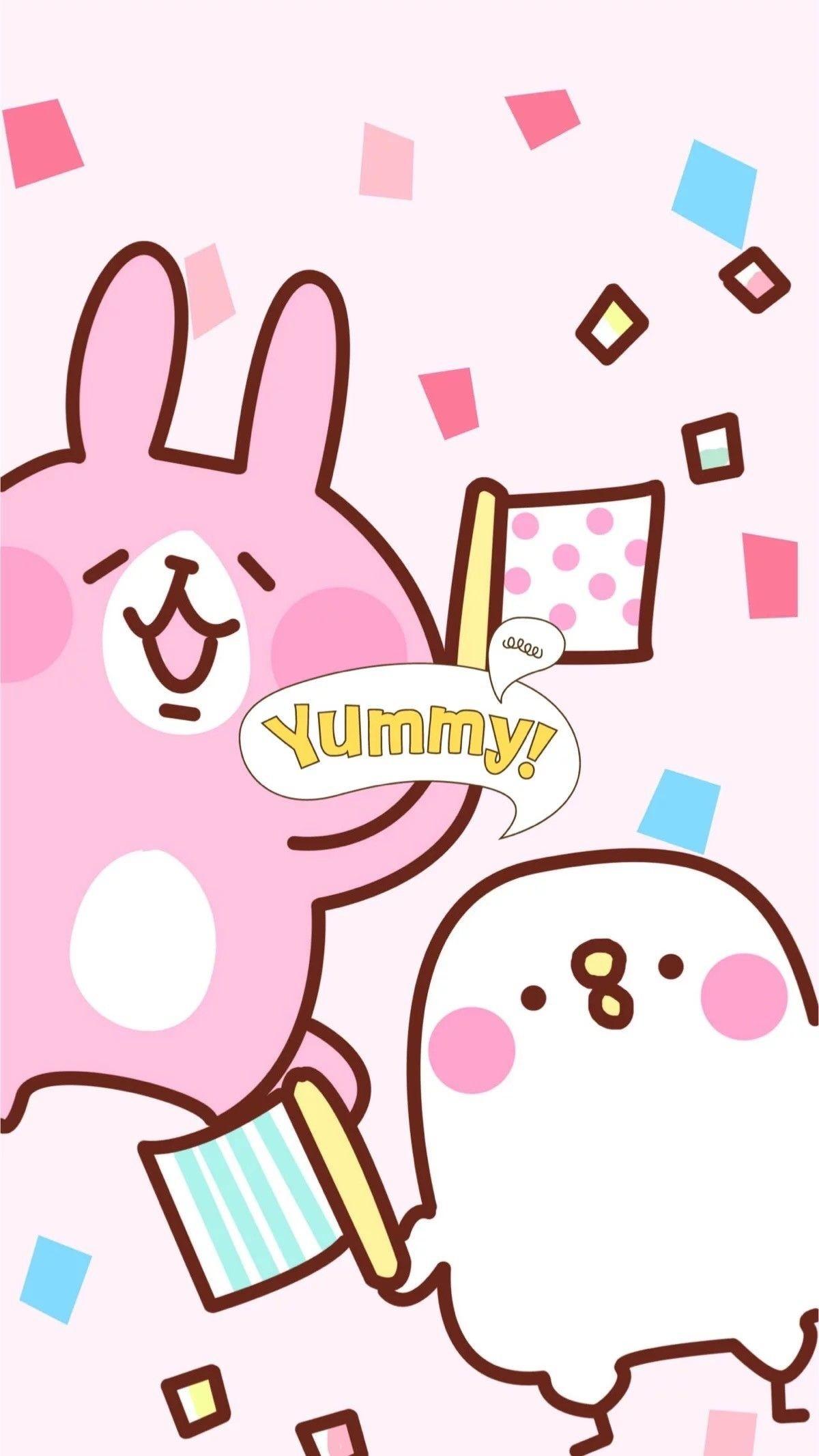 Cute Kawaii Wallpaper For Iphone Data Src Super Cute - 粉紅 兔 兔 卡通 - 1200x2133 Wallpaper - teahub.io