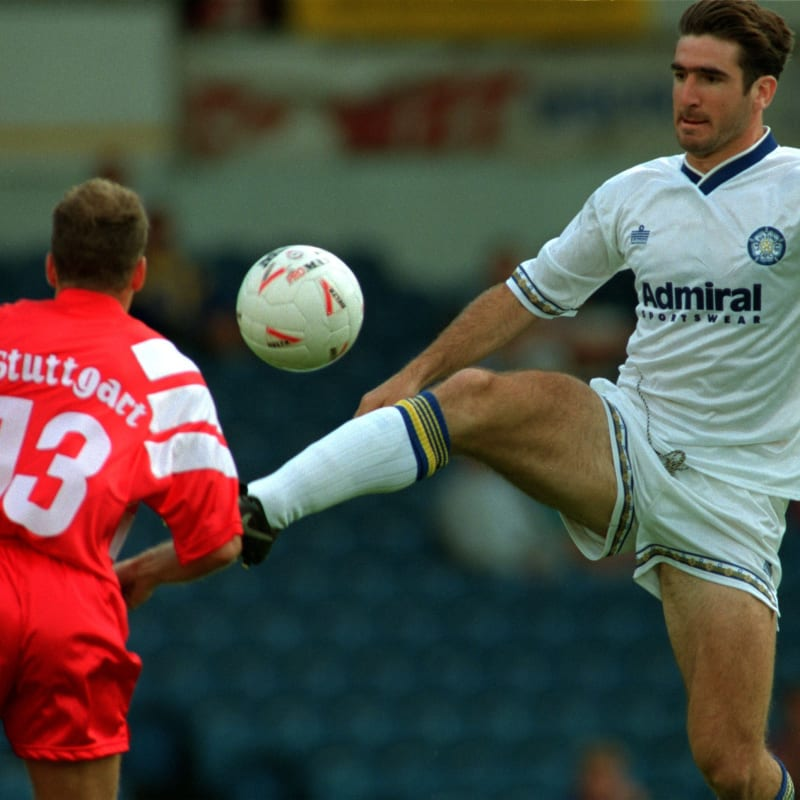 The 1992/93 season was marked by the club winning the inaugural premier league. Eric Cantona In Action For Leeds United In - Eric Cantona ...