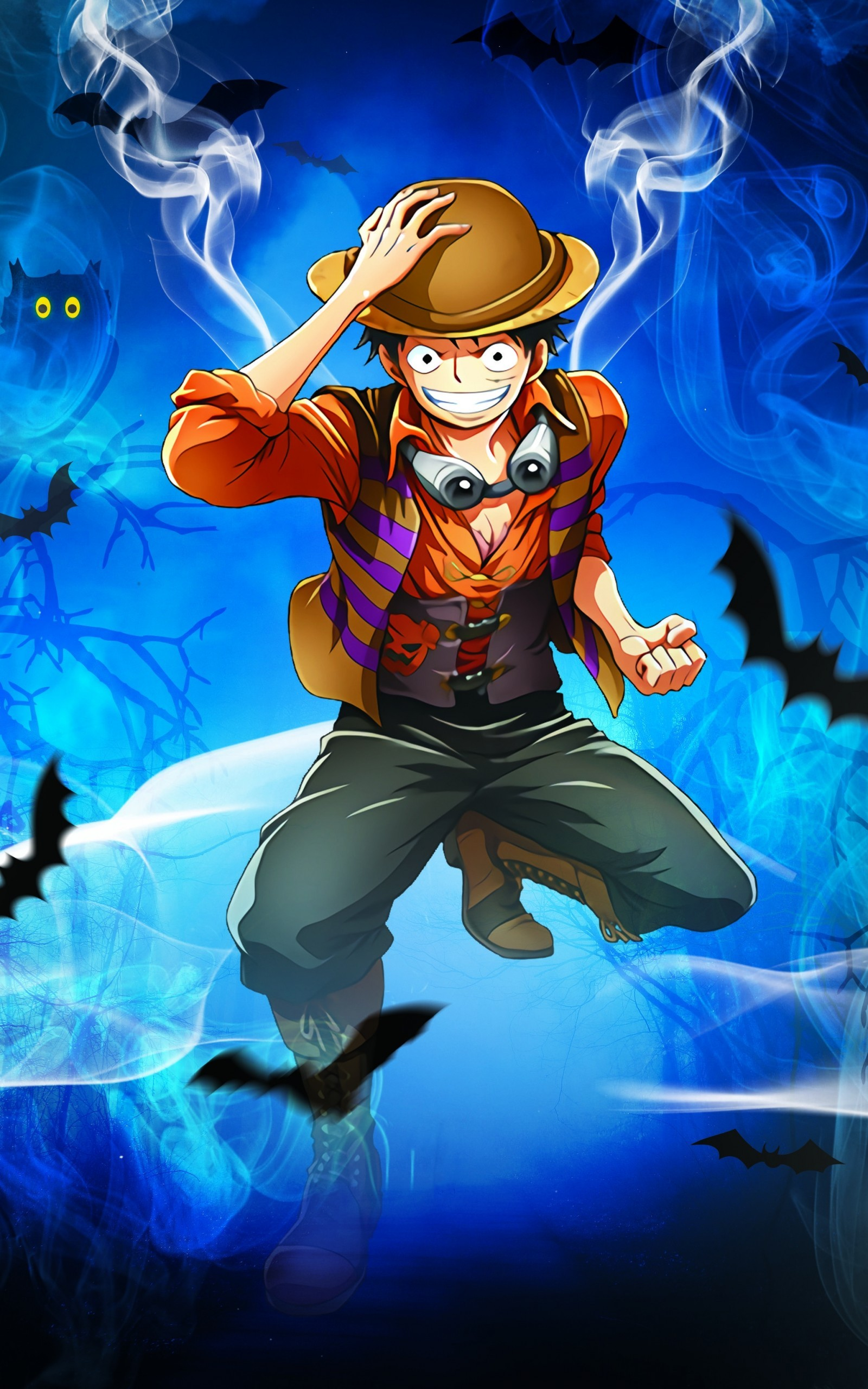 Download zedge™ app to view this premium item. Luffy Straw Hat Pirates One Piece Smiling Monkey D Luffy 3d 1600x2560 Wallpaper Teahub Io