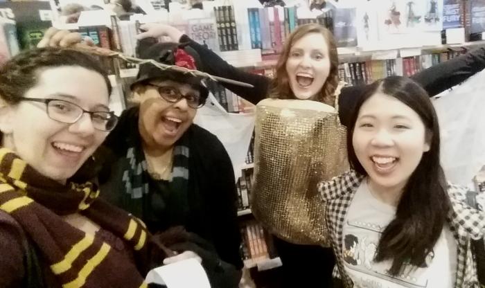 The Cursed Child launch at Dymocks Brisbane with Sarah, Rhianna and Jeann