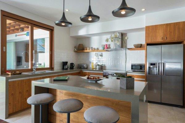Quality Teak Wooden Kitchen Cabinets - Bali
