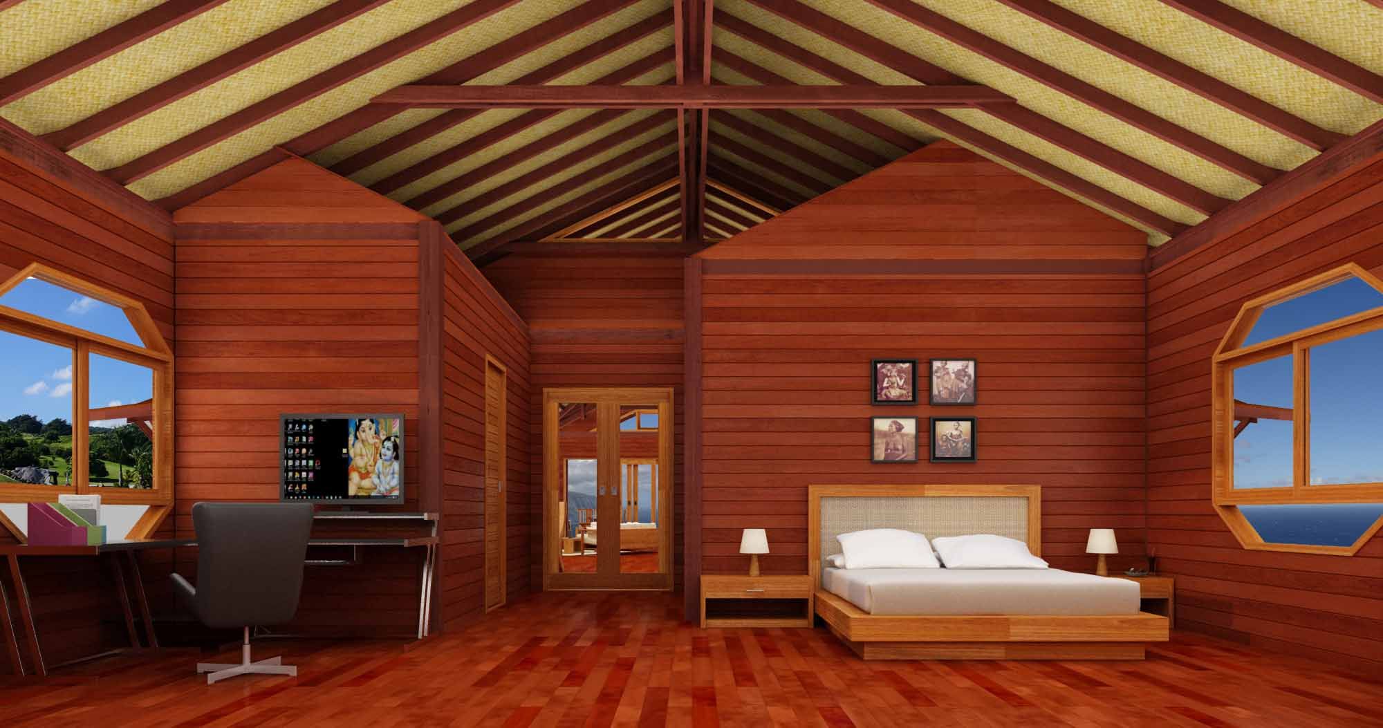 View Floor Plans of our Bali Buddha Prefab Home Design