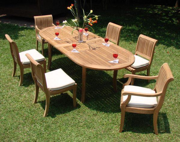 teak wood patio furniture set 8 PC TEAK SET GARDEN OUTDOOR PATIO FURNITURE DECK POOL Y01 GIVA DINING DECK NEW | eBay