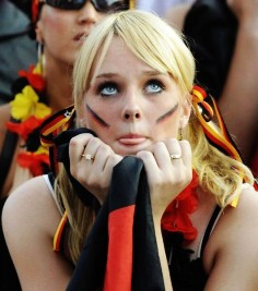 2014 german flag world cup tattoo on face for girls-t99721