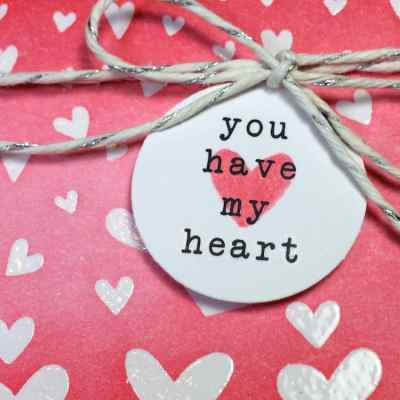 A Clear Emboss Resist Card for Valentine's Day