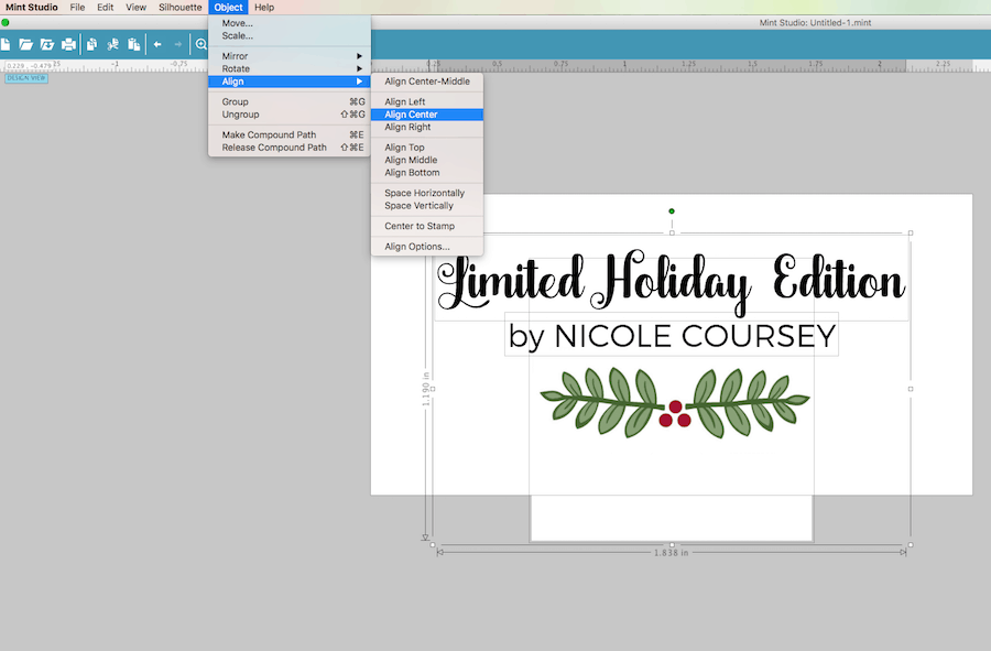 Custom holiday stamp with the Silhouette Mint™: Alignment